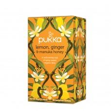 Ekologiška arbata Pukka Lemon, Ginger & Manuka Honey 20pak.